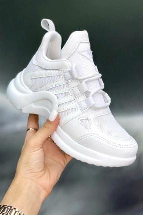 MORENİCA Kadın Beyaz Sneaker 0