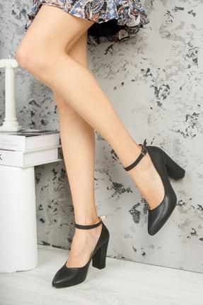 Muggo Siyah Kadın Klasik Topuklu Ayakkabı DPRGZHWY705 2
