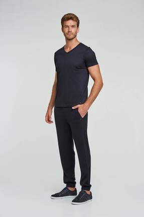 Hemington Erkek Lacivert V Yaka Basic T-shirt 3