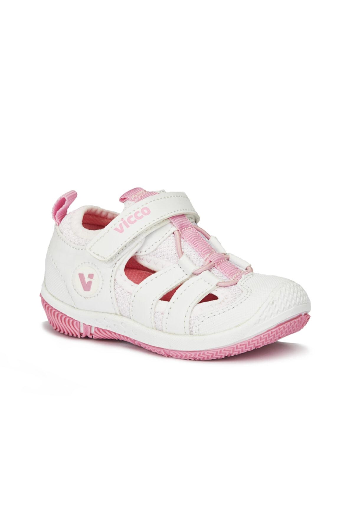 Kız Çocuk Beyaz Pembe Spor Ayakkabı
