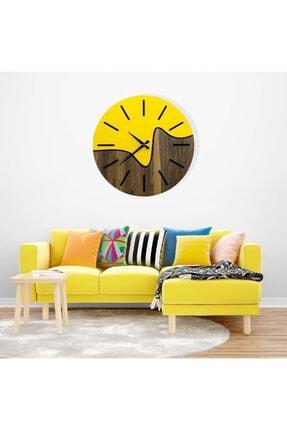 hediyekolisi Dekoratif Iki Renkli Ahşap Duvar Saati 2