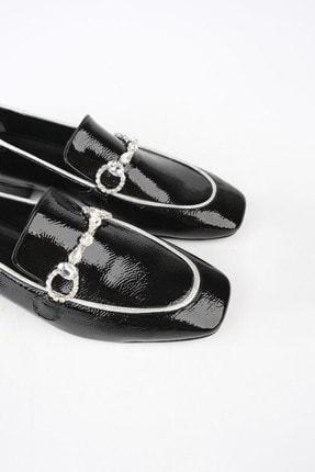 Marjin Kadın Siyah Rugan Loafer Ayakkabı Ateni 0