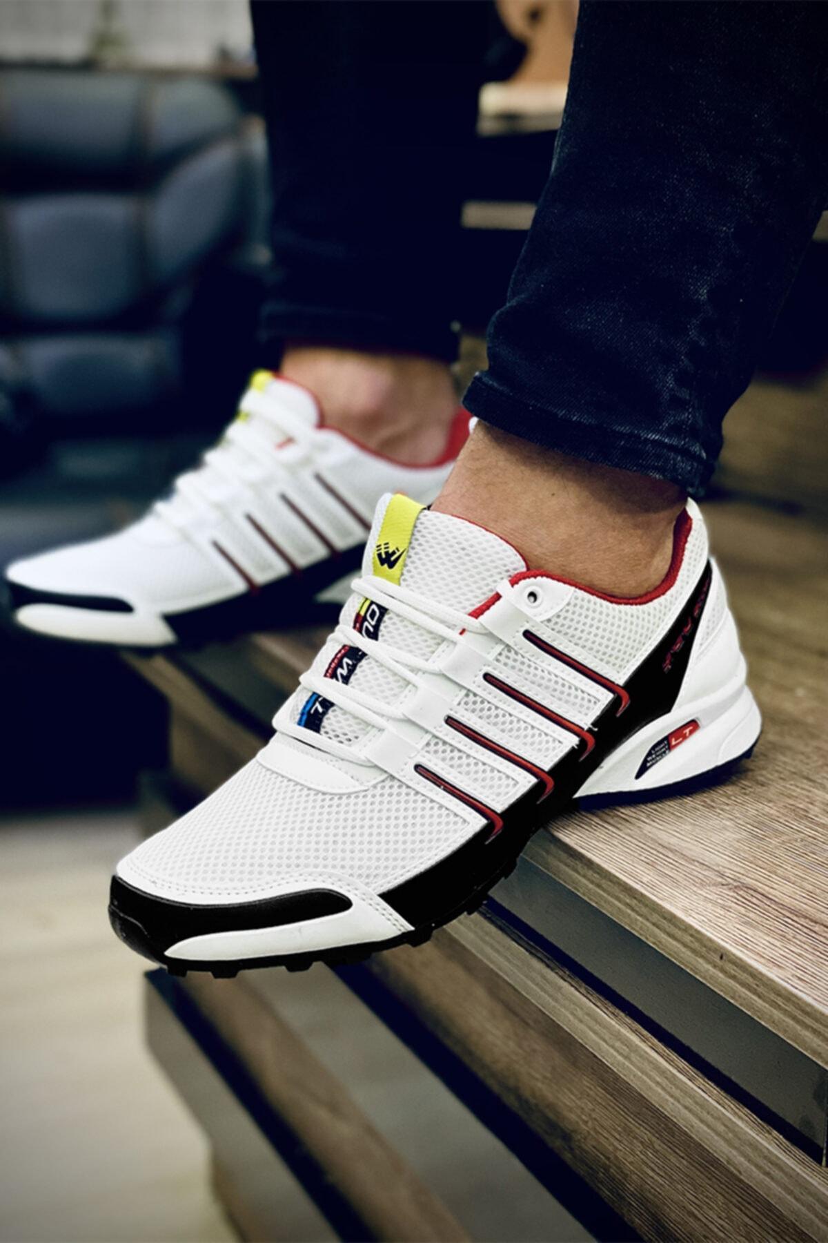 Erkek Beyaz Günlük Spor Yürüyüş Ayakkabısı
