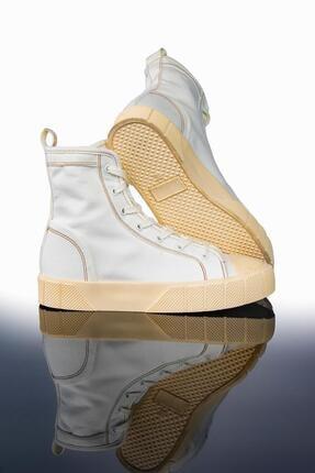 LETOON Kadın Beyaz Yüksek Bilekli Spor Ayakkabı Ltn2021 2
