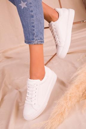 Soho Exclusive Beyaz Kadın Sneaker 14395 2