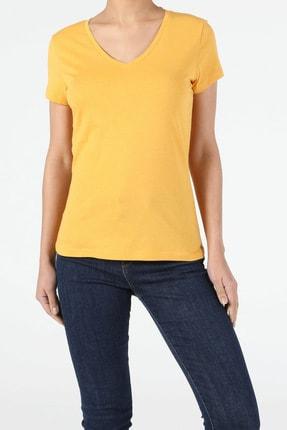 Colin's Sarı Kadın Kısa Kol Tişört 3