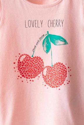 LC Waikiki Kız Bebek Pembe Ftg T-Shirt 2