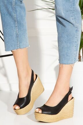 derithy Lewis Dolgu Topuklu Ayakkabı-siyah-lzt0535 1