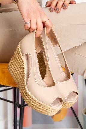 derithy Older Dolgu Topuklu Ayakkabı-ten-lzt0536 1