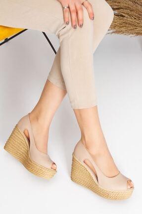 derithy Older Dolgu Topuklu Ayakkabı-ten-lzt0536 2