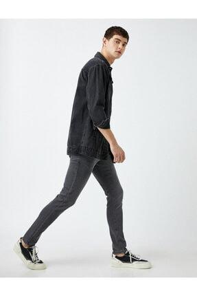 Erkek Gri Micheal Skinny Fit Jean Pantolon 1KAM43066LD
