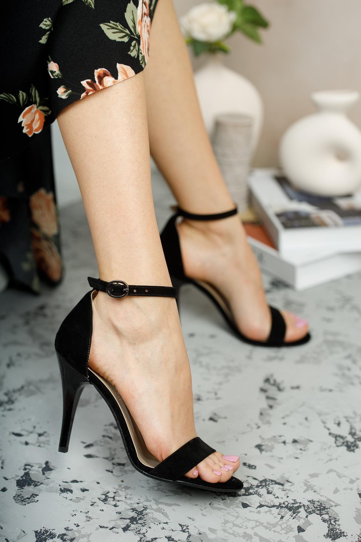 Mglily10 Kadın Topuklu Ayakkabı