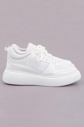 Marjin Kadın Beyaz Sneaker Ayakkabı Levido 0