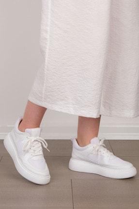 Marjin Kadın Beyaz Sneaker Ayakkabı Levido 1
