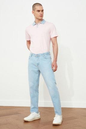 Picture of Açık Mavi Erkek Relax Fit Kesik Paça Jeans TMNSS21JE0448