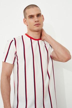 TRENDYOL MAN Beyaz Erkek Regular Fit  T-Shirt TMNSS21TS2021 0