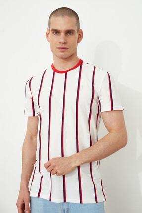 TRENDYOL MAN Beyaz Erkek Regular Fit  T-Shirt TMNSS21TS2021 1