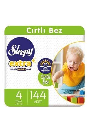 Sleepy Extra Günlük Aktivite Bezi 4 Numara Maxi 144 Adet 0