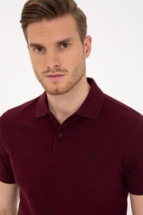 Pierre Cardin Bordo Slim Fit Basic Polo Yaka T-Shirt 1