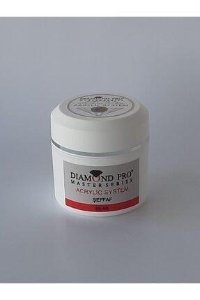 DIAMOND PROFESSIONAL Protez Tırnak Oluşturucu Akrilik Toz Şeffaf 50ml 0