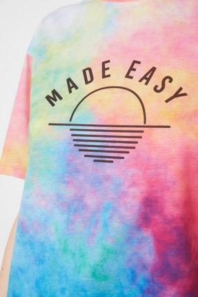 TRENDYOLMİLLA Çok Renkli Loose Örme T-Shirt TWOSS21TS1759 3