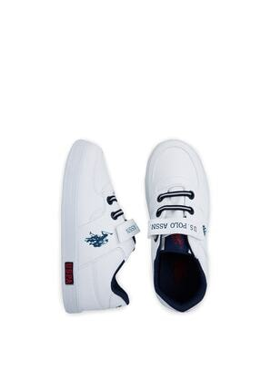 US Polo Assn Cameron Beyaz Erkek Çocuk Sneaker Ayakkabı 100380400 4