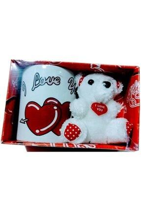 Kupa Ayıcık ve I Love You Baskılı Kupa 13948MA24360