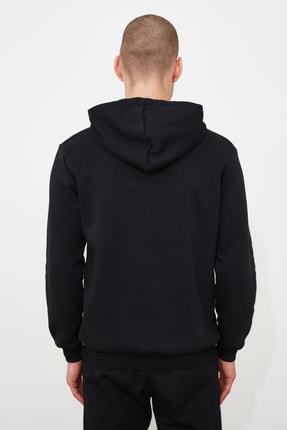 TRENDYOL MAN Siyah Erkek Baskılı Sweatshirt TMNAW21SW0979 3