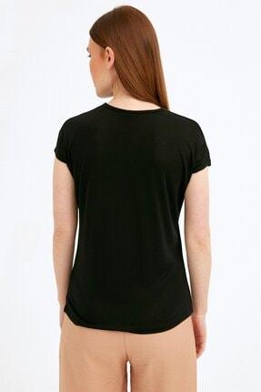 Fullamoda Kadın Siyah Ay Baskılı Tshirt 3