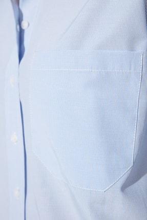 TRENDYOLMİLLA Açık Mavi Çizgili Boyfriend Gömlek TWOAW20GO0115 3