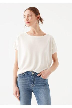 Mavi Lux Touch Beyaz Modal Tişört 1