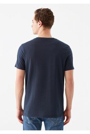 Mavi Logo Baskılı Lacivert Tişört 3