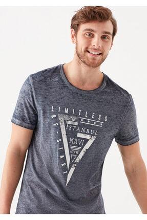 Mavi Limitless  İstanbul Baskılı Lacivert Tişört 1