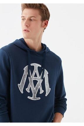 Mavi Mühür Logo Baskılı Lacivert Sweatshirt 1