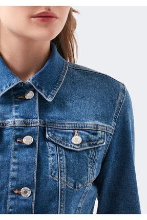 Mavi Kadın Daisy 90 s Zımparalı  Jean Ceket 1113632061 4