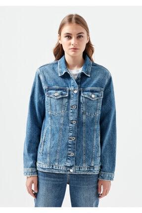 Mavi Kadın Karla Gold Icon  Jean Ceket 110154-30868 2