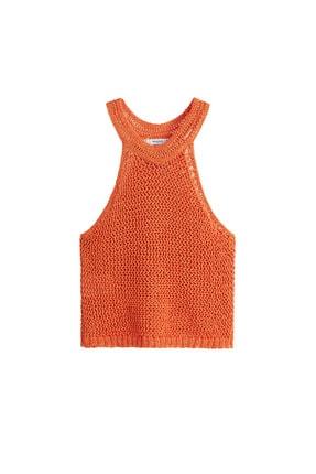 Mango Kadın Parlak Turuncu Bluz 43047802 3
