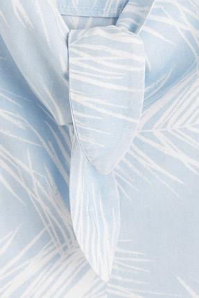 Mango Kadın Açık/Pastel Mavi Bluz 43039077 4
