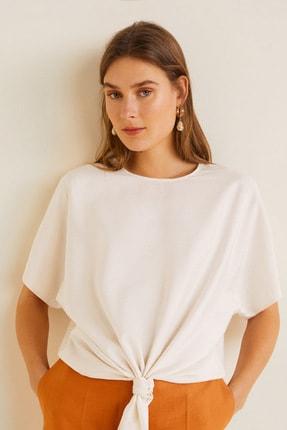 Mango Kadın Kırık Beyaz Bluz 43057029 4