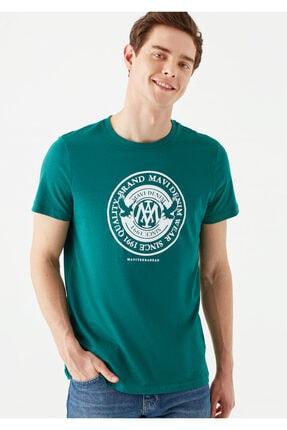 Mavi Erkek Yeşil Logo Baskılı T-Shirt 0