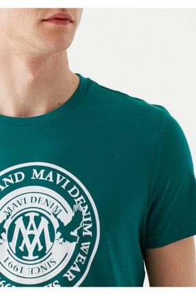 Mavi Erkek Yeşil Logo Baskılı T-Shirt 4