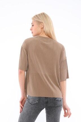 Tiefti Kadın Kahverengi Fitilli Bluz 3