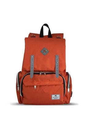 My Valice Smart Bag Mother Star Usb'li Anne Bebek Bakım ve Sırt Çantası Turuncu 1