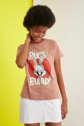 TRENDYOLMİLLA Turuncu Örme T-Shirt TWOSS21TS0565 2