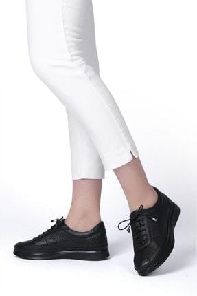 Marjin Kadın Siyah Hakiki Deri Comfort Ayakkabı Amaso 1