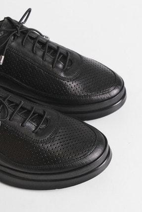 Marjin Kadın Siyah Hakiki Deri Comfort Ayakkabı Amaso 4