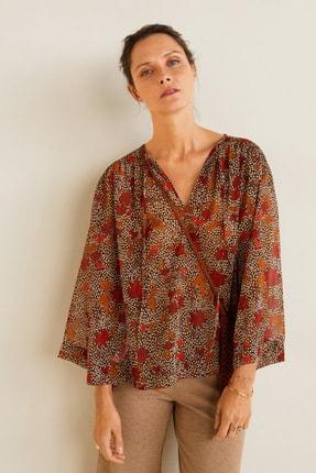 Mango Kadın Kahverengi Bluz 41095032 1