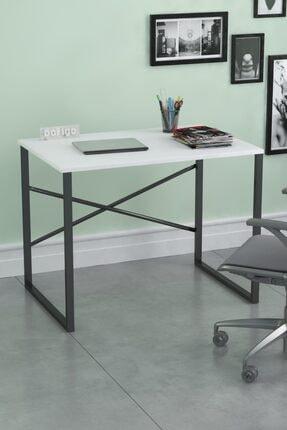 Bofigo 60x90 cm Çalışma Masası Laptop Bilgisayar Masası Ofis Ders Yemek Cocuk Masası Beyaz 0