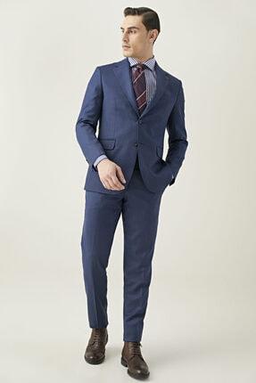 تصویر از Erkek Lacivert Regular Fit Takım Elbise