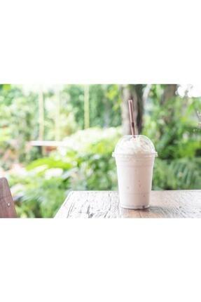 İhtiyaç Limanı Plastik Bardak Ekstra Kalın 350 Cc Milkshake Parti Bardağı 100 Adet Pipet 100 Adet 2